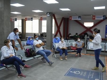 Secretaría de Salud realiza acompañamiento a las zonas con más casos de COVID-19 , en Sucre