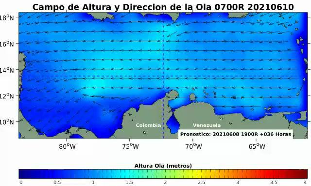 San Andrés, Santa Marta y Córdoba con posibles lluvias