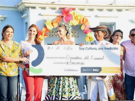 Portafolio de Estímulos entrega $6.000 millones a los hacedores del Carnaval de Barranquilla