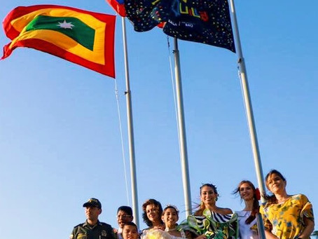 Isabella izó la bandera del Carnaval y hoy preside el Bando 2020
