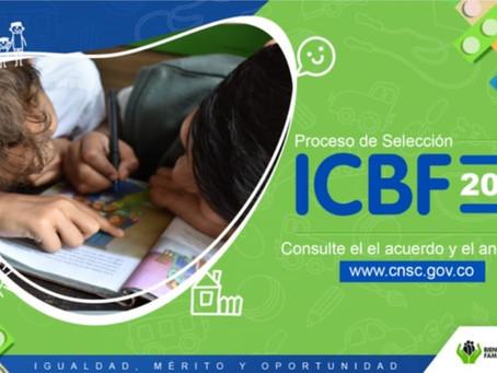 Se abre proceso de selección para más de 3.500 vacantes en el ICBF
