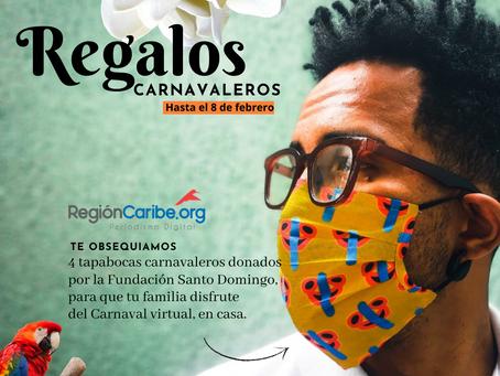 REGIONCARIBE.ORG  obsequia tapabocas carnavaleros de la Fundación Santo Domingo
