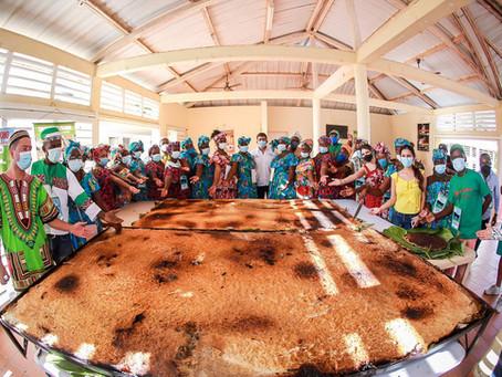 Así es el enyucado mas grande del mundo realizado Palenque