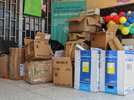 Maicao hizo entrega de 2.5 toneladas de residuos post consumo