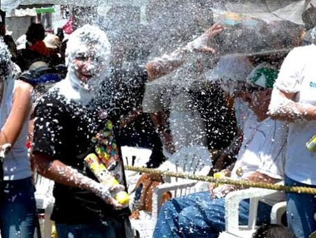 ¡Cuidado con las espumas de carnaval!