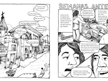 Novela gráfica que retrata la realidad de las familias víctimas de la desaparición forzada