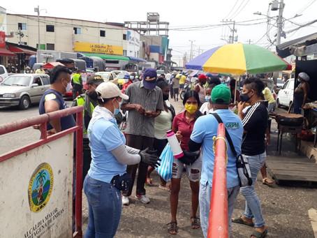 Cartagena realiza control de medidas contra el COVID-19 en Bazurto y Pie de Popa en Cartagena