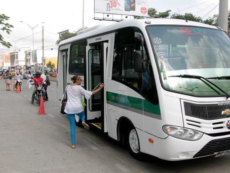Se habilitó 9 rutas provisionales de transporte publicó en Sincelejo