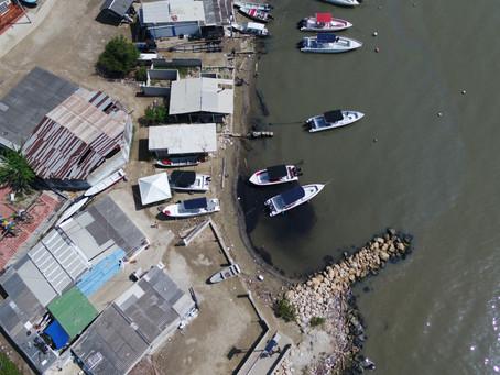 30 metros de la orilla de Tierrabomba se encuentran afectados por la contaminación