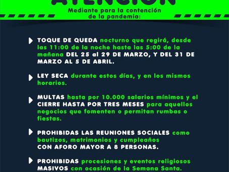 Barranquilla decreta toque de queda nocturno y ley seca durante los próximos dos fines de semana