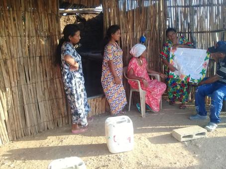 Familias Wayuu reciben charlas preventivas de COVID-19