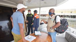 Intensifican control para evitar ruido en embarcaciones turísticas de Cartagena