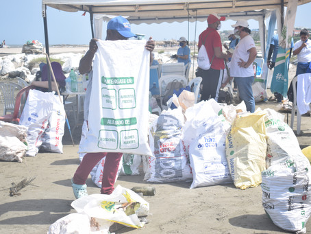 Se recogió más material no aprovechable en limpiezas de playa de Puerto Colombia.