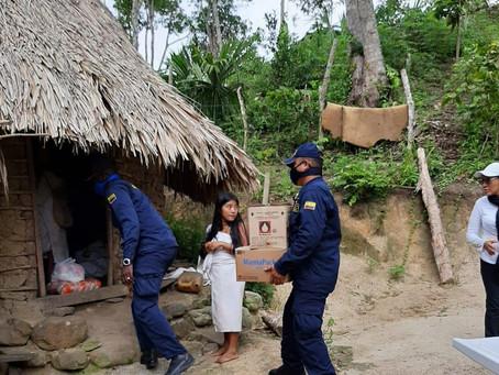 Pueblos indígenas en la Sierra Nevada reciben ayudas humanitarias