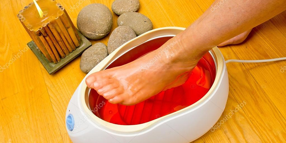 SOLD OUT Foot Beauty Wax Bath Therapy 4.00pm 5th April