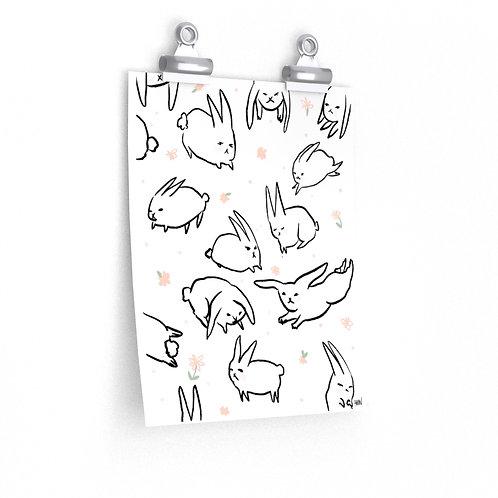 Bunnies for Cora 2020 Print