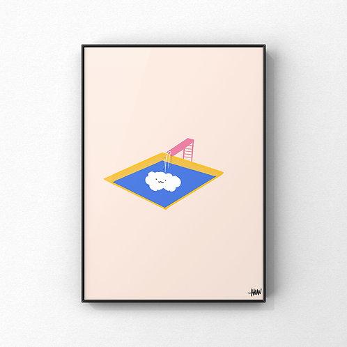 Cloud Jump Print
