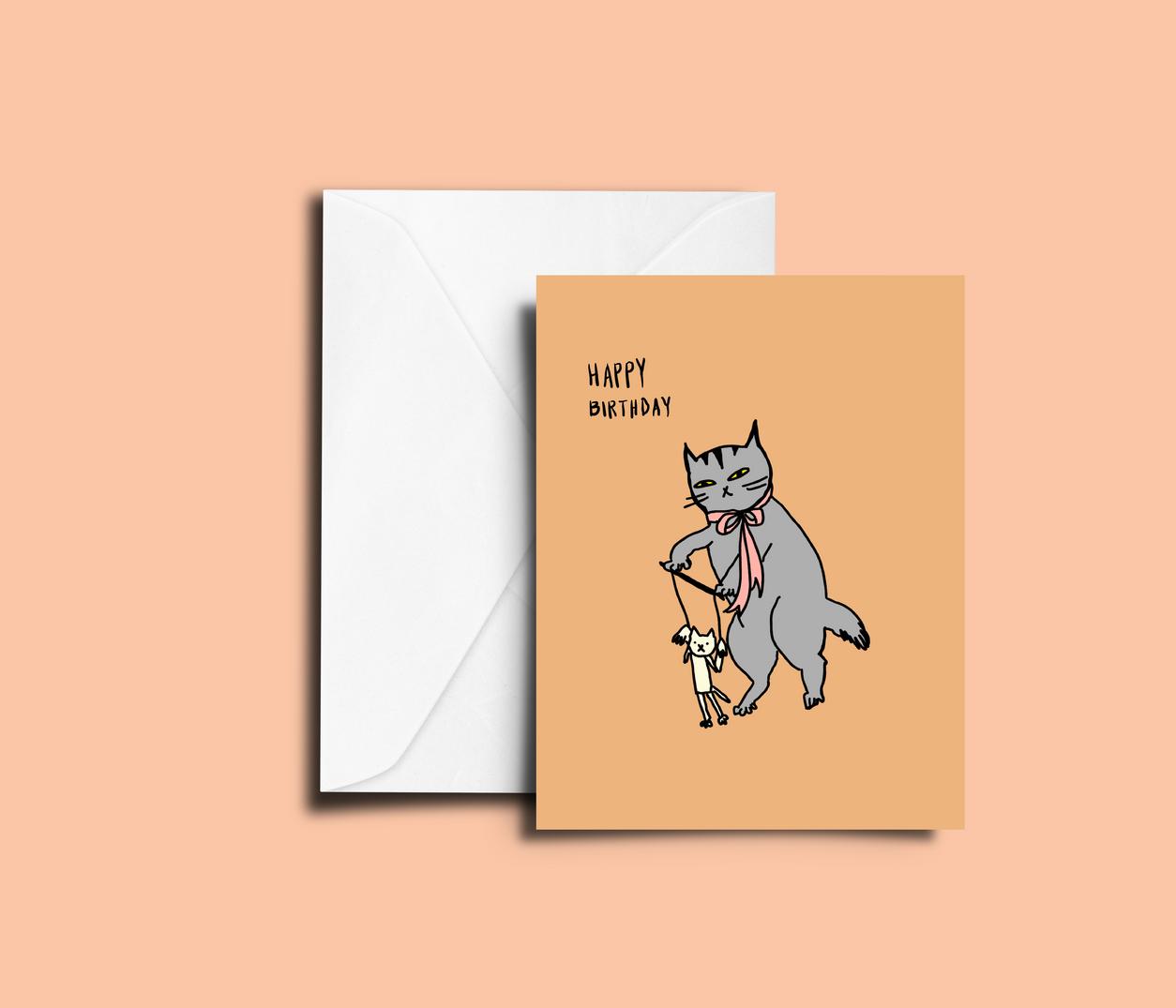 'Birthday Play' peachbaby Greeting Card