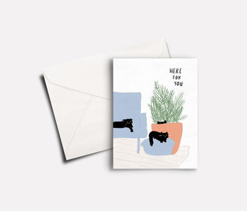 'Here for You' peachbaby Greeting Card