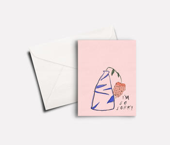 'Sorry Protea' peachbaby Greeting Card
