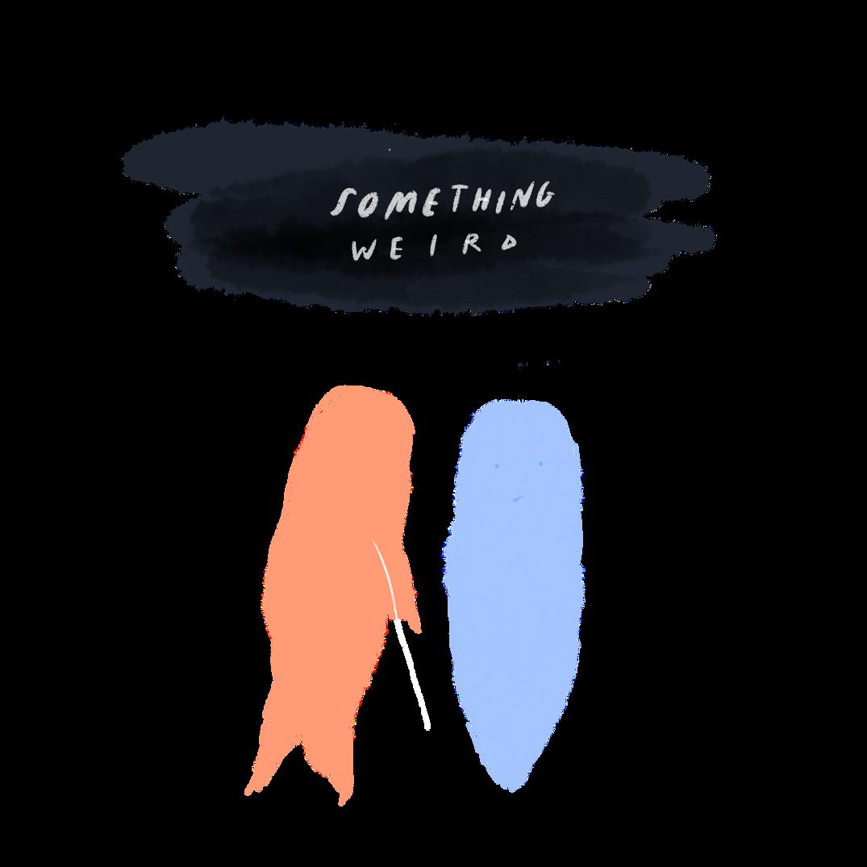 something weird logo