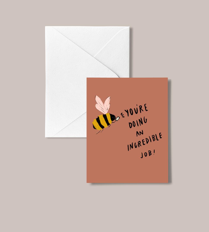 'Nice Bee' peachbaby Greeting Card