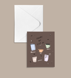'My Cup' peachbaby Greeting Card