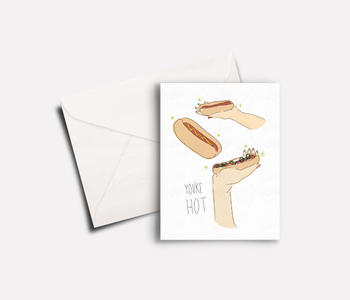 'You're Hot' peachbaby Greeting Card