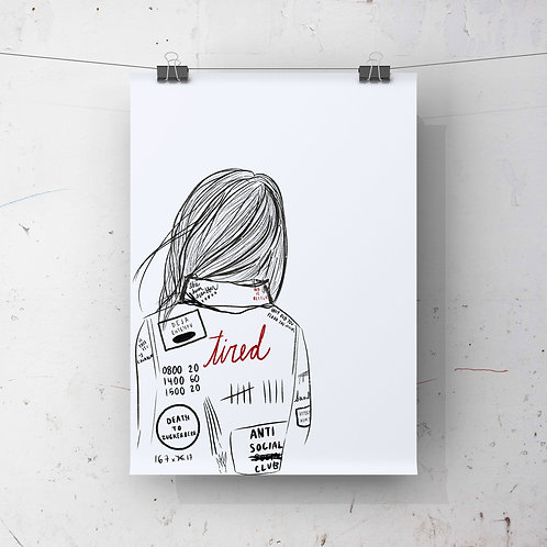 Tired Print