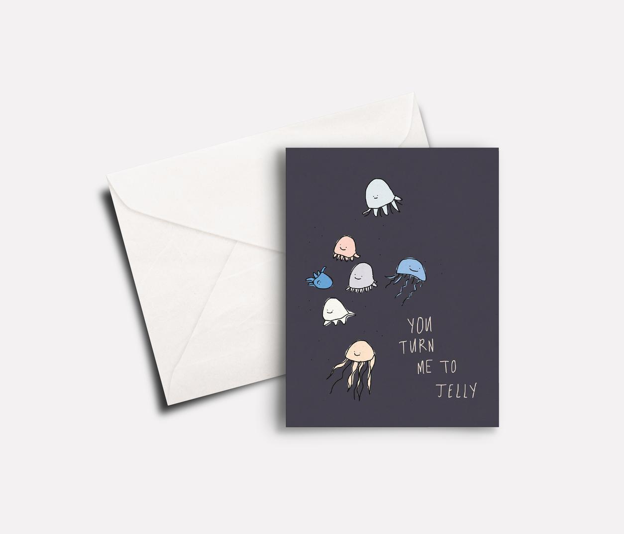 'Jellies' peachbaby Greeting Card