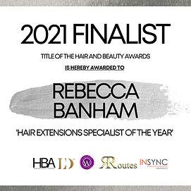 Rebecca Banham - TITLE OF THE HAIR AND B