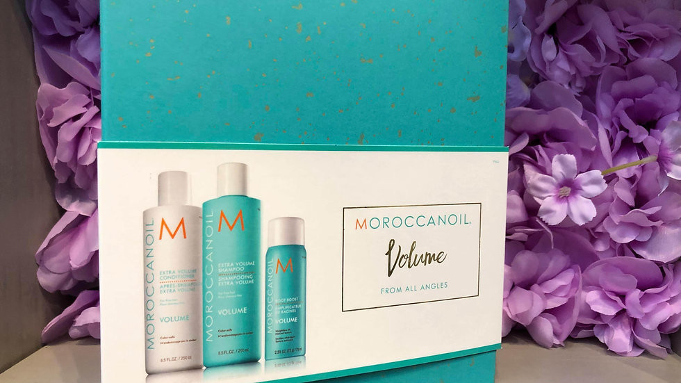 Morrocan oil volume at all angles luxury hair care set .