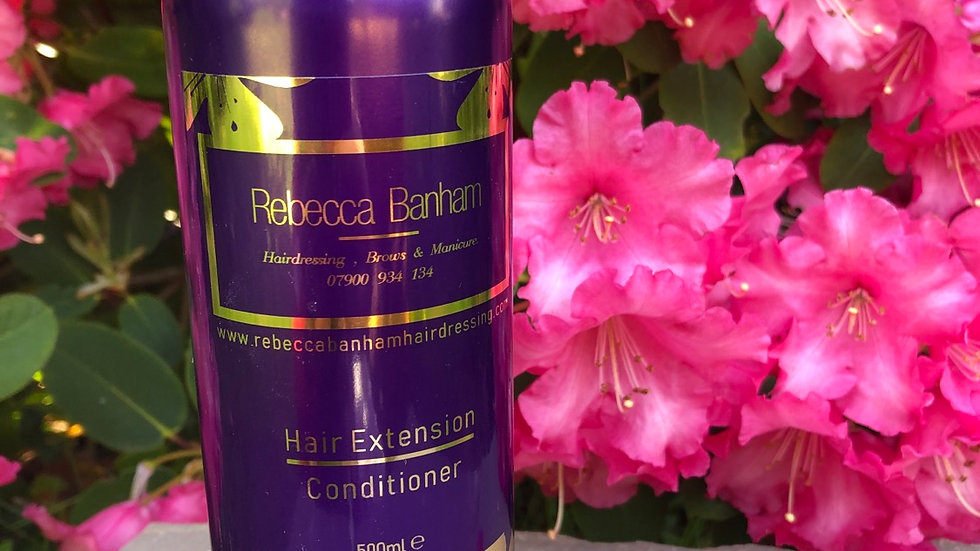Hair extension conditioner 500ml my exclusive Rebecca Banham aftercare range