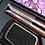 Thumbnail: Titanium hair straighteners - floral design with heat resistant mat.