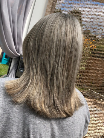 Foils with silver toner.