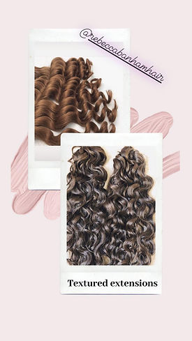 Wavy hair extension at Rebecca Banham hairdressing Spilsby Lincolnshire