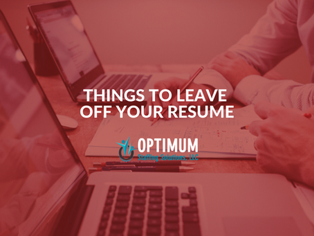 Things To Leave Off Your Resume