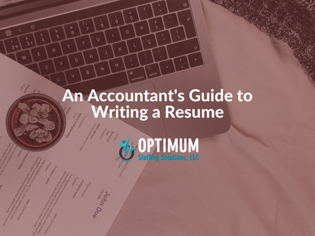 An Accountant's Guide to Writing a Resume