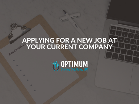 Applying for a New Job at your Current Company