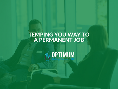 Temping Your Way to a Permanent Job