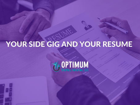 Your Side Gig and Your Resume