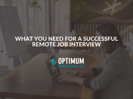 What You Need for a Successful Remote Job Interview