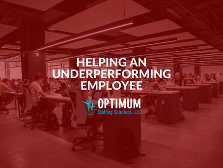 Helping an Underperforming Employee