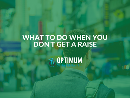 What To Do When You Don't Get A Raise