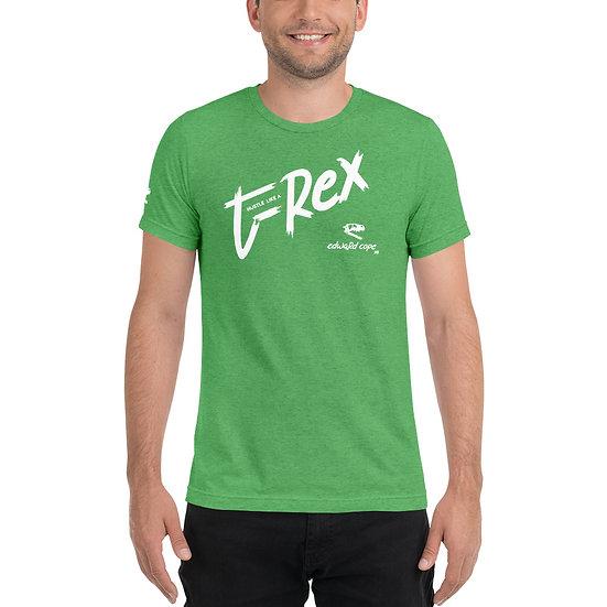 Hustle Like a T-Rex Short sleeve t-shirt (White)