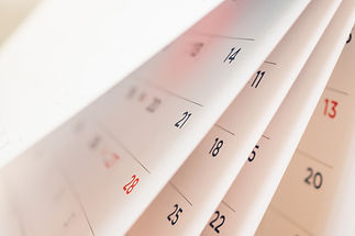 Abstract blur calendar page flipping she