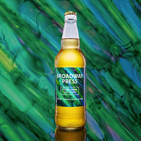 6 x 500ml Broadway Press® Ice Cyder® Elderflower 4% ABV