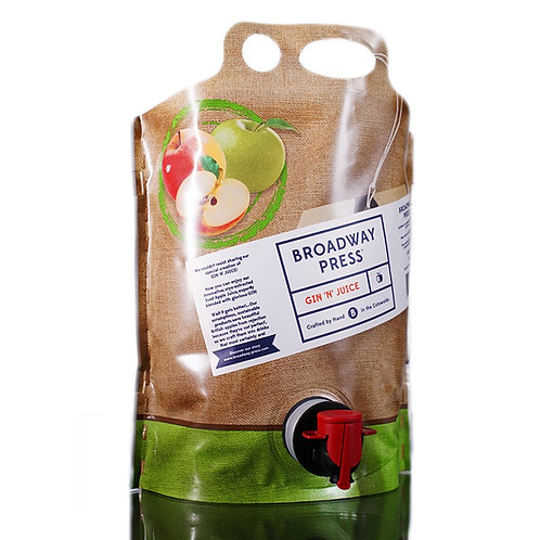 Broadway Press® GIN'N'JUICE 4.8% ABV - 3 Litre Pouch