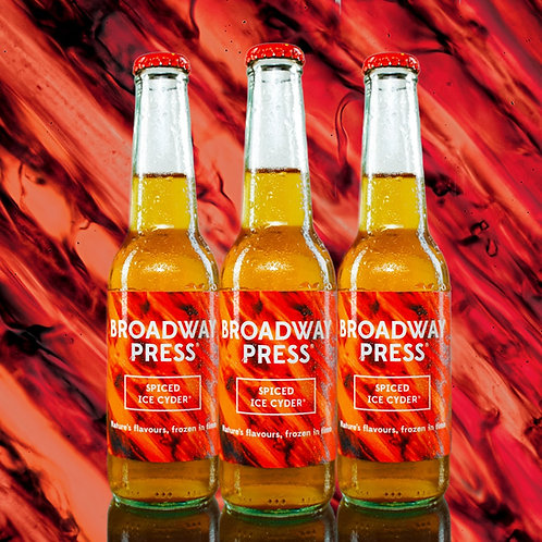 12 x 275ml Broadway Press® Spiced Ice Cyder® 4% ABV