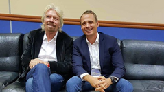 Оскар Хартманн взял интервью у британского миллиардера Ричарда Брэнсона на Synergy Global Forum 2017
